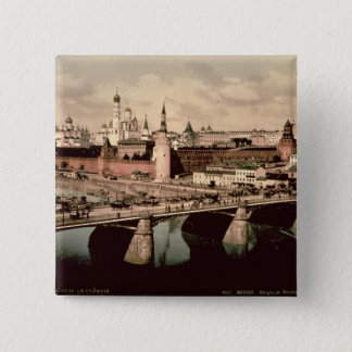 Postcard depicting the Kremlin, Moscow Button