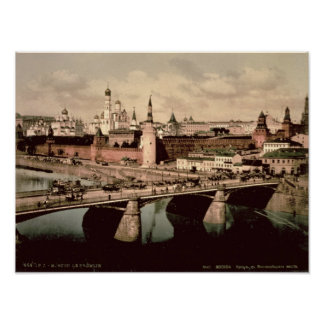 Postcard depicting the Kremlin, Moscow Poster