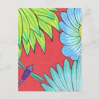 Postcard-Dragonfly postcard
