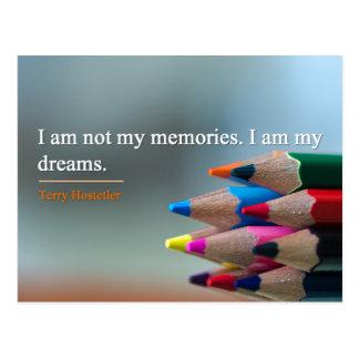 Postcard - Dreams & Memories Inspirational Quote