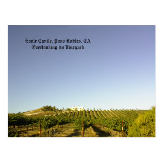 Postcard: Eagle Castle overlooking its vineyard