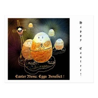 Postcard Easter Eggs Benedict