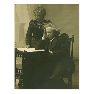Postcard Edvard Grieg & Nina Hagerup Circa 1900