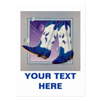 Postcard - Electric Slide Cowboy Boots