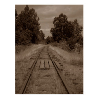Postcard ~ EMPTY TRAIN TRACKS ~ Reminder of Past
