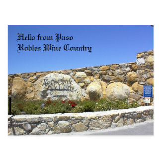 Postcard, Entrance to Eagle Castle Driveway