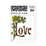 Postcard Fall In Love Autumn Wedding Postage Stamp