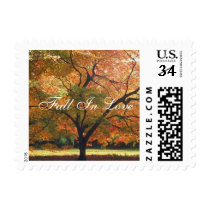 Postcard Fall In Love Wedding Invitation Postage