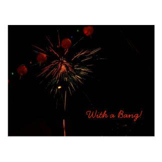 Postcard- Fireworks and Lanterns Postcard