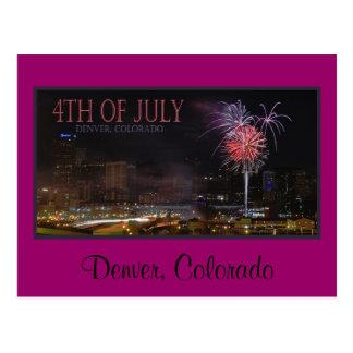 postcard fireworks, Denver, Colorado