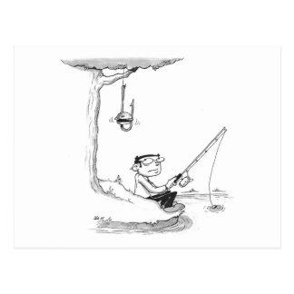 Postcard - Fishing Cartoon - Burger