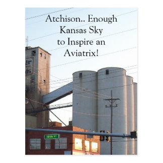 Postcard For Atchison Kansas Aviation Town Amelia