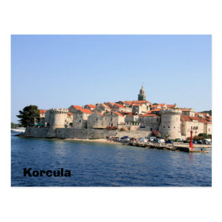 postcard for Korcula, Croatia