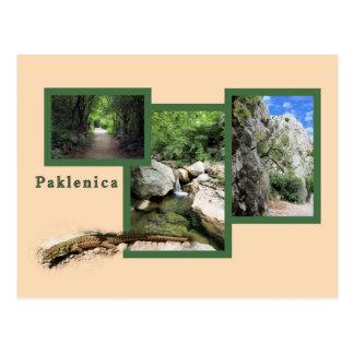 postcard for national park Paklenica, Croatia
