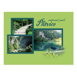 postcard for national park Plitvice, Croatia