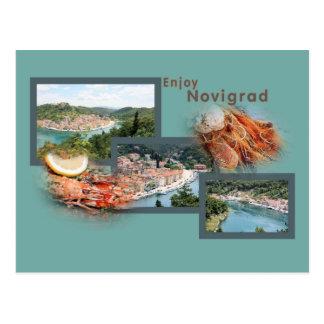 postcard for Novigrad, Zadar, Croatia