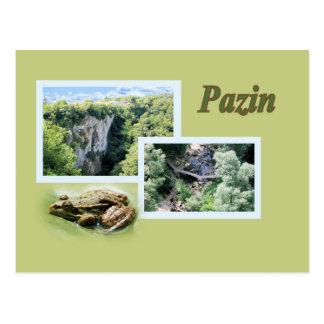 postcard for Pazin, Croatia
