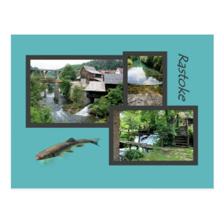 postcard for Rastoke, Croatia