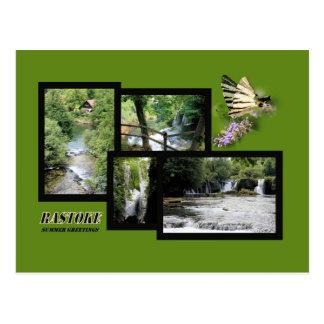 postcard for Rastoke, Croatia