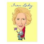 Postcard Former British Prime Minister Iron Lady