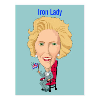 Postcard Former British Prime Minister Iron Lady