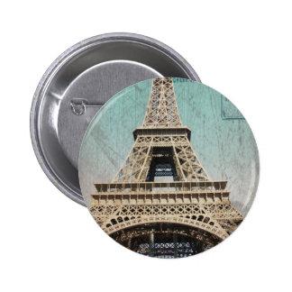 Postcard From Paris EIffel Tower 2 Inch Round Button