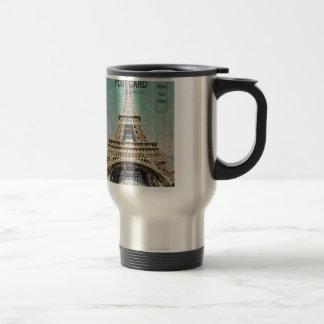 Postcard From Paris EIffel Tower Travel Mug
