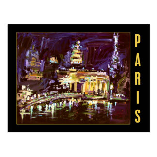 Postcard From Paris - Night Life art by Ginette