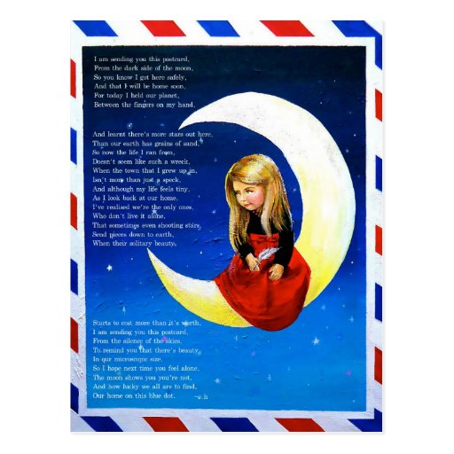 Postcard from the Moon Postcard