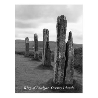 Postcard from the Ring of Brodgar, Orkney Islands