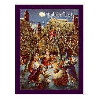 Postcard Full Moon Party Oktoberfest Celebration