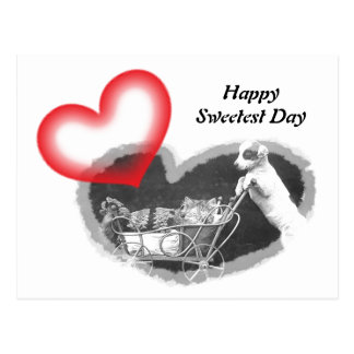 Postcard Furry Happy Sweetest Day Hearts Pet PC