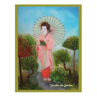 "Postcard ""Geisha in the garden """