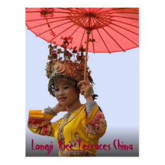 POSTCARD - Girl in Traditional Dress