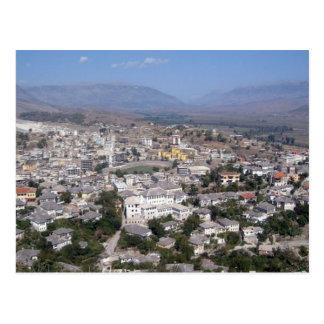 Postcard Gjirokastra in Southern Albania Tarjeta Postal