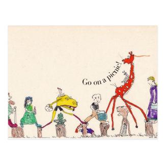 Postcard - Go On a Picnic!