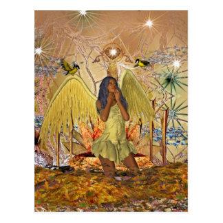 Postcard Golden Angel