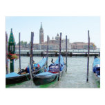 Postcard - Gondolas at  San Marco CLR