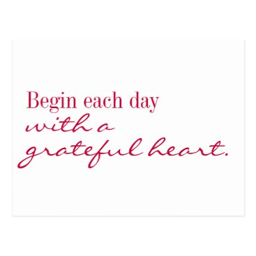 DonnaGotlib Postcard - Grateful heart inspire and encourage