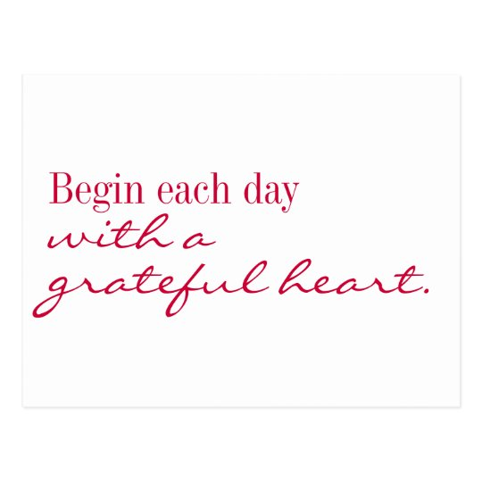 Postcard - Grateful heart inspire and encourage