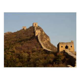 Postcard Great Wall off Clouded. Beijing