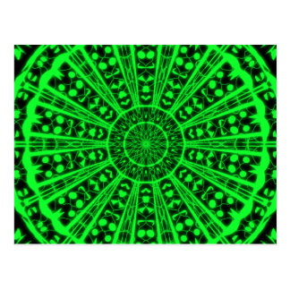 Postcard green psychedelic vision