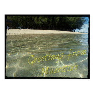 """Postcard """"Greetings from Mauritius"""""""