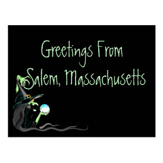 Postcard Greetings From Salem Massachusetts Witch