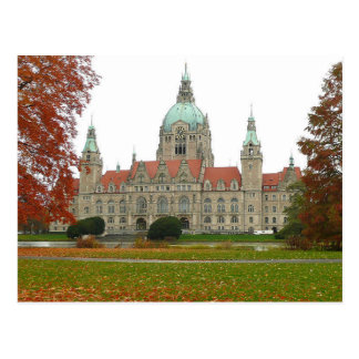 Postcard Hannover Neues Rathaus Herbst, Germany