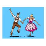 Postcard Happy Bavarian Oktoberfest Couple