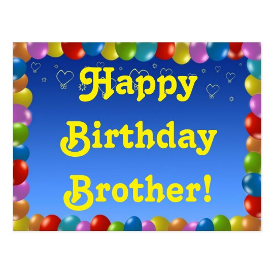 Postcard Happy Birthday Brother
