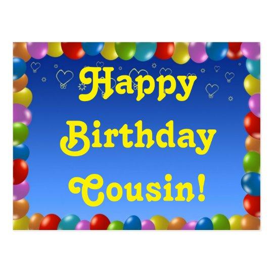 Postcard Happy Birthday Cousin Zazzle Com