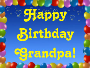 Postcard Happy Birthday Grandpa