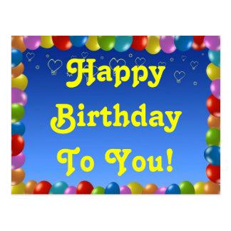 Postcard Happy Birthday To You!